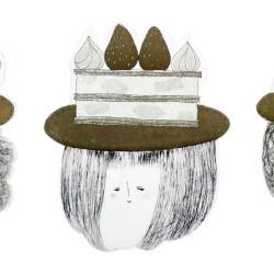 お菓子の帽子3人1mhp